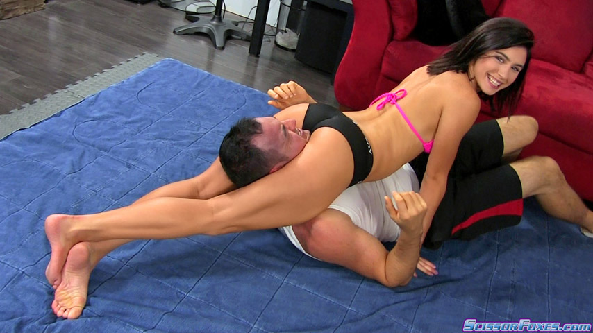 2 domina wrestling and smothering a wimp 5